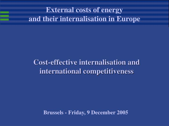 cost effective internalisation and international competitiveness n.