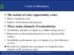 costs to business