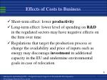 effects of costs to business