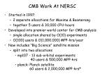 cmb work at nersc