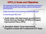 nrclji goals and objectives