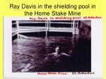ray davis in the shielding pool in the home stake mine