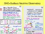sno sudbury neutrino observatory