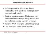 suggested study approach
