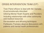 crisis intervention team cit