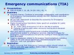 emergency communications tia
