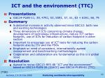 ict and the environment ttc