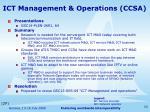 ict management operations ccsa