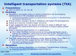 intelligent transportation systems tia