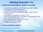 meeting overview 2