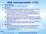 ngn interoperability ttc