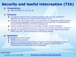 security and lawful interception tia