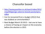 chancellor booed