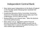 independent central bank