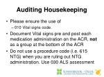 auditing housekeeping
