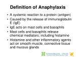 definition of anaphylaxis