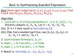 back to synthesizing guarded expression