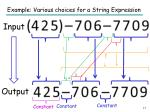 example various choices for a string e xpression