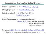 language for constructing output strings