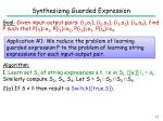 synthesizing guarded expression