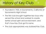 history of key club