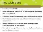 key club dues