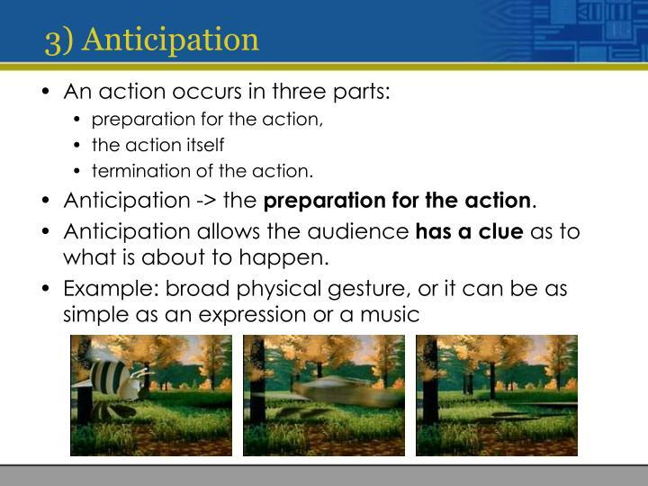 3) Anticipation