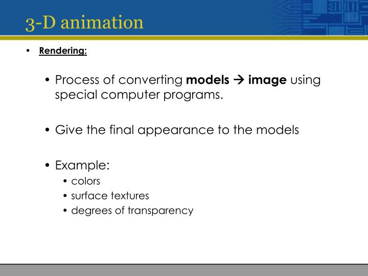 3-D animation
