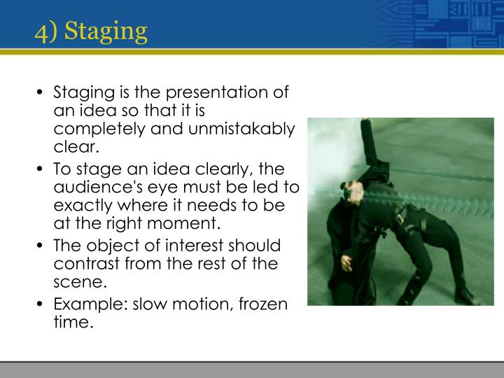 4) Staging