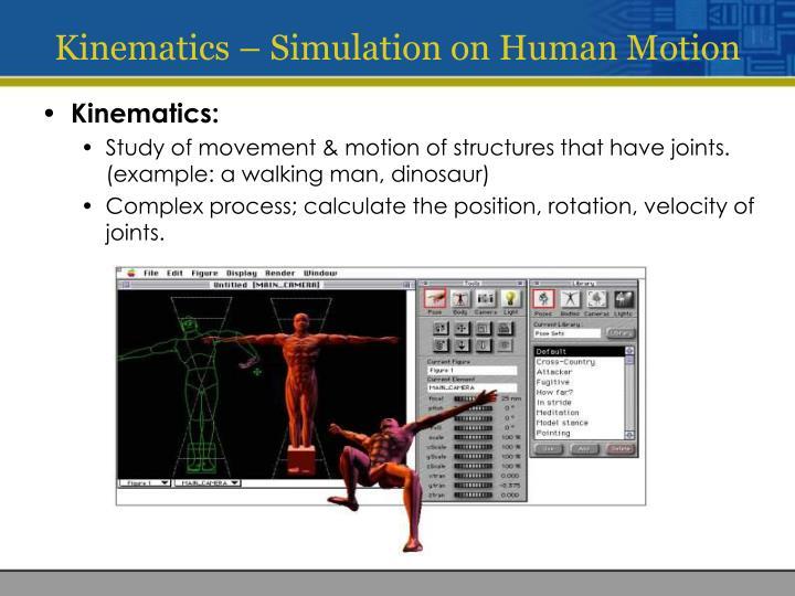 Kinematics – Simulation on Human Motion