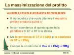 la massimizzazione del profitto2