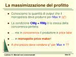 la massimizzazione del profitto3