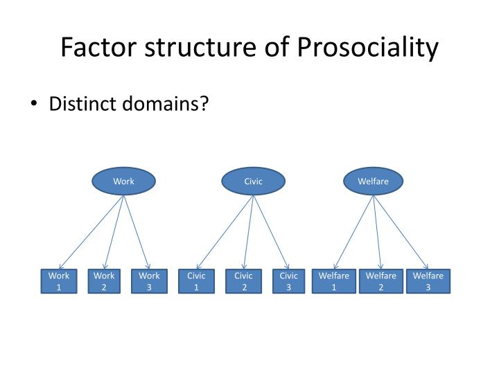 Factor structure of