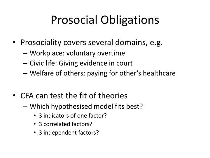 Prosocial obligations