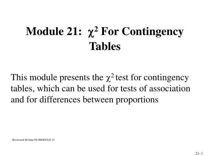 module 21 2 for contingency tables n.