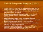 urban ecosystem analysis uea1