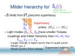 milder hierarchy for