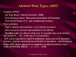abstract data types adt