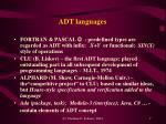 adt languages