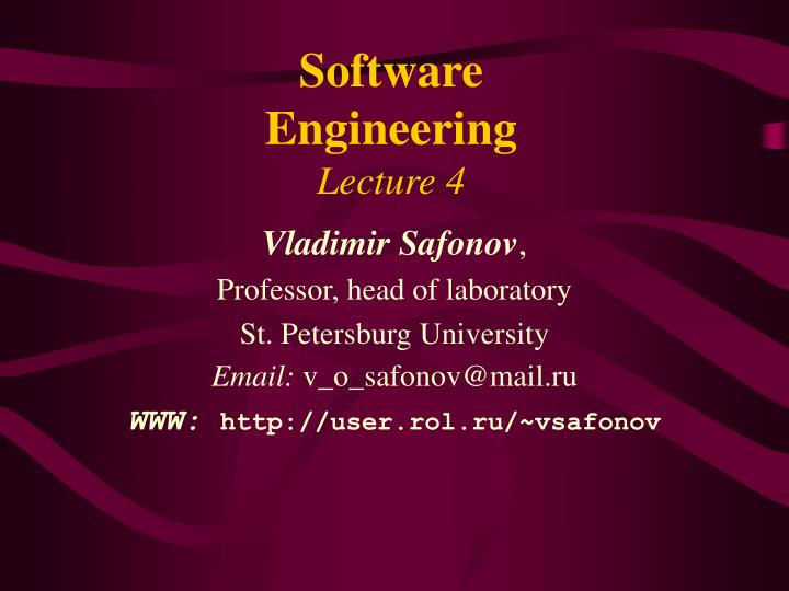 software engineering lecture 4 n.