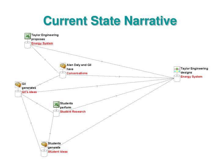 Current state narrative