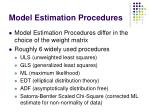 model estimation procedures