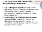 2 the actors of the ncc the crucial role of knowledge institutions