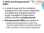 5 nccs and entrepreneurial cmos