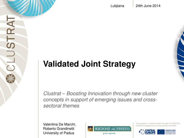 validated joint strategy n.
