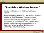 associate a windows account