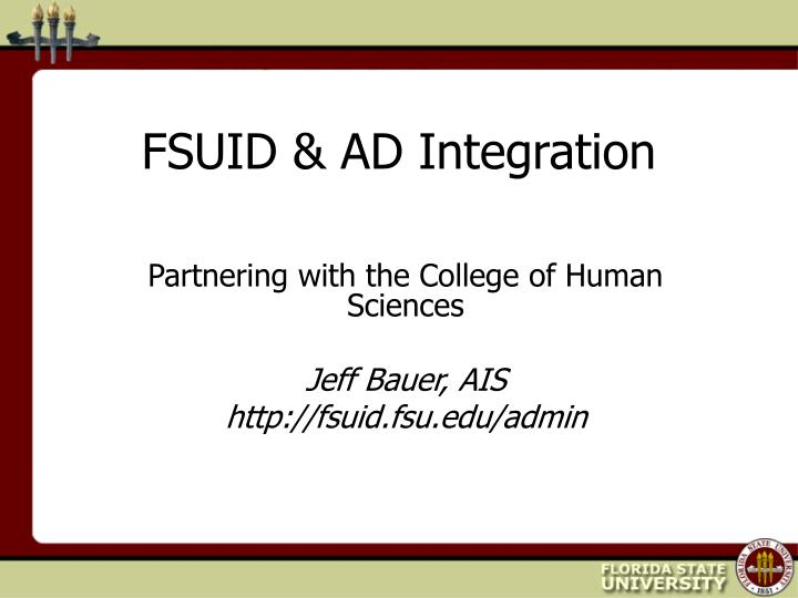 fsuid ad integration n.