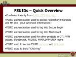 fsuids quick overview