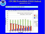 cpc iri probabilistic enso outlook updated 8 nov 2012