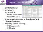 change control minor changes